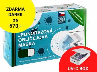 Jednorázové certifikované zdravotní roušky MESAVERDE ČR 1.000 ks + UV-C box ZDARMA