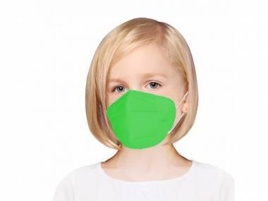 Dětský Respirátor FFP2 zelený - 50 kusů