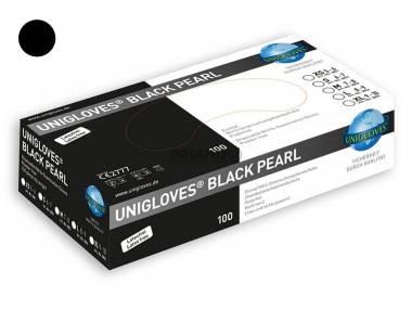 Jednorázové nitrilové rukavice Unigloves vel.XS černé 100ks