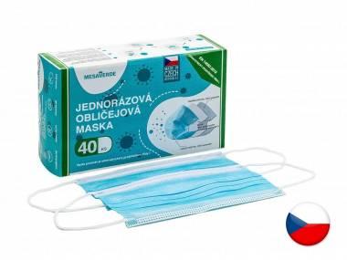 Jednorázové certifikované zdravotní roušky MESAVERDE ČR 40 KS