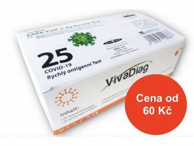 VIVA DIAG Antigenní test NEINVAZIVNÍ z kraje nosu (i pro děti) - sada 100 ks