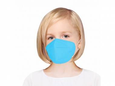 Dětský Respirátor FFP2 modrý - 5 kusů