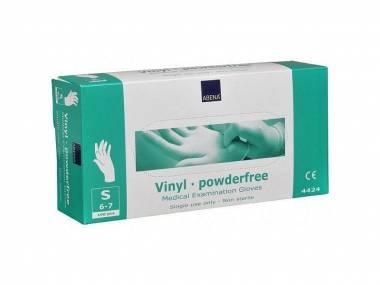 Jednorázové vinylové rukavice Abena, nepudrované, Vel. S 100ks