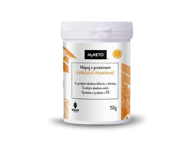 MyKETO Nápoj s proteinem s příchutí pomeranč, 150 g