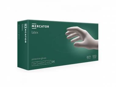 MERCATOR MEDICAL Jednorázové latexové rukavice Mercator Protective gloves S/M/L 100ks  Rozměr: S