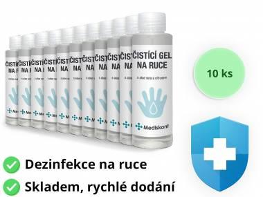 10 ks Mediskont antibakteriální čistící gel na ruce 100 ml (59 Kč/ks)