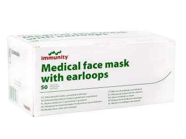 Chirurgická certifikovaná obličejová rouška BATIST IMMUNITY třída IIR  50 ks
