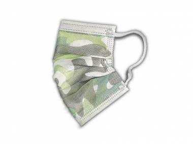 Dětské jednorázové roušky RespiLAB vojenské maskáčové 10ks