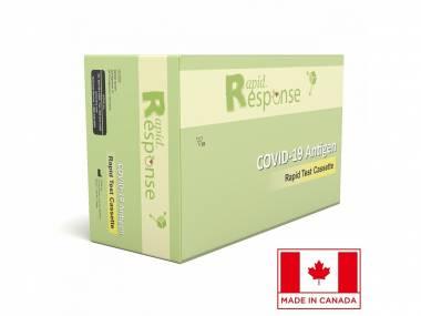 Certifikovaný kanadský antigenní rychlotest na COVID-19 ze slin Rapid Response Ag s přesností 99,5% – 5 ks