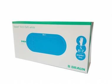Jednorázové nitrilové rukavice B Braun Nitril Soft White vel.S 200 ks