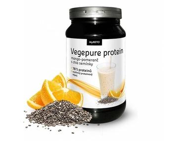 MyKETO MAXI Vegepure Protein Gym Body mango-pomeranč a chia - vegan 600g