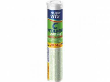 MaxiVita Vitamin C + acerola + zinek 24 tbl