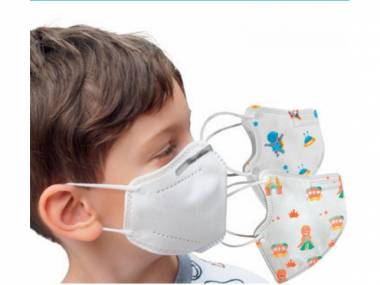 Dětské respirátory FFP2 s obrázky 10 ks Barvy: Modrá