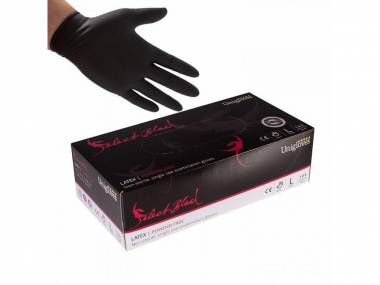 Latexové rukavice Unigloves Select Black vel. M černé 100 ks
