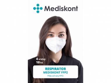 10 ks respirátorů Mediskont FFP2
