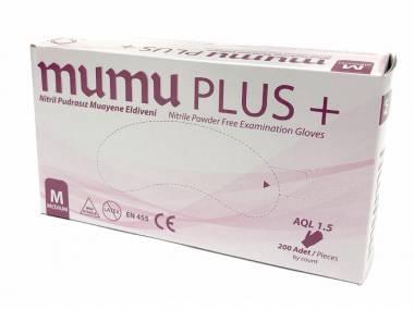Mumu plus+ Jednorázové nitrilové rukavice Mumu Plus, S/M/L, modré, 200ks Rozměr: S
