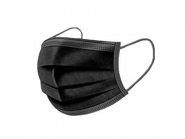 Jednorázové ochranné roušky 10 ks černé