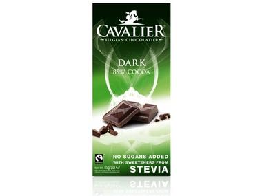 Cavalier Čokoláda DARK 85% (slazená stévií) 85 g