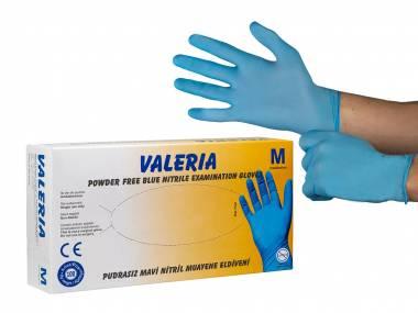 Nitrilové jednorázové rukavice 100 ks bal. VALERIA Velikost: M