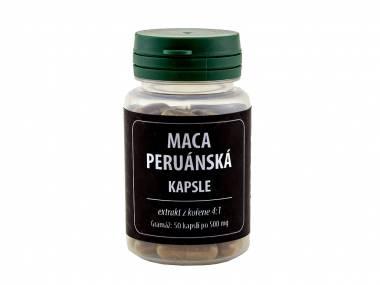 Maca peruánská 50 kapslí (Extrakt kořene macy peruánské 50 kapslí 500 mg)