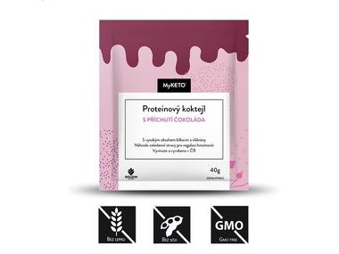 MyKETO Proteinový koktejl s příchutí čokoláda, 1 porce, 40 g