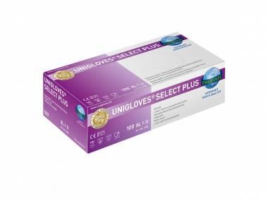 Latexové rukavice Unigloves Select Plus, S/M/L bílé 150 ks (3,66 Kč/ks) Rozměr: M