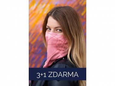 3+1 ZDARMA antivirové šátky nanoSPACE – růžový FFP2 dle dTestu