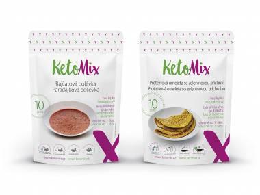 KetoMix Rajská polévka a zeleninová omeleta (20 porcí) + šejkr + manuál