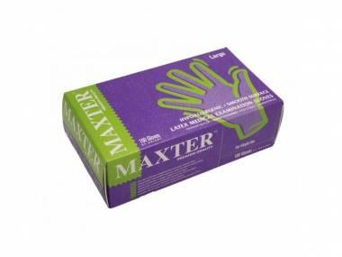 Jednorázové latexové rukavice Maxter, vel. M/L/XL bílé 100ks Rozměr: M