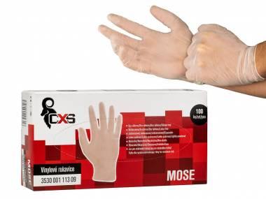 Vinylové jednorázové rukavice MOSE vel. L 100 ks balení