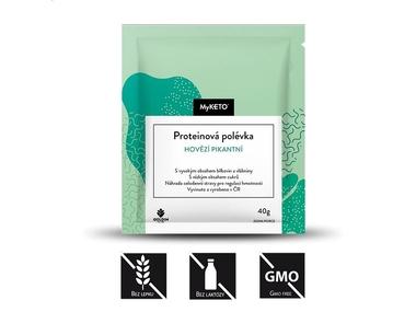 MyKETO Proteinová polévka hovězí pikantní, 40 g