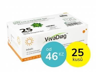 VIVA DIAG Antigenní test NEINVAZIVNÍ z kraje nosu (i pro děti) - sada 25 ks