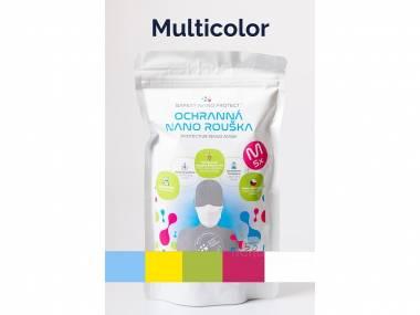 Multicolor roušky SAFETY NANO PROTECT Velikost: S - 5 ks různě barevné balení