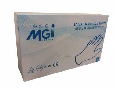 MGI Medical Jednorázové latexové rukavice MGI vel. M/L bílé, 100ks Rozměr: M