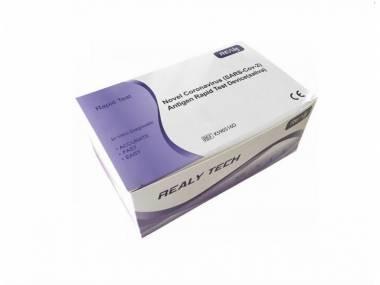REALY TECH Novel Coronavirus SARS-Cov-2 Antigen Rapid Test Device saliva 5 ks