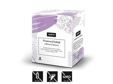 MyKETO Proteinový koktejl s příchutí malina, 5x40 g
