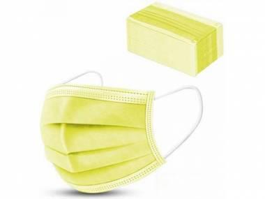 Jednorázové ochranné roušky 10ks žluté