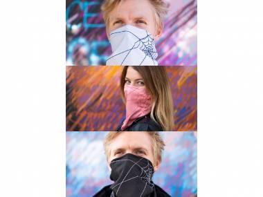 Výhodné balení 3 ks: Antivirový šátek nanoSPACE - růžový, černý a šedý 750 Kč / ks