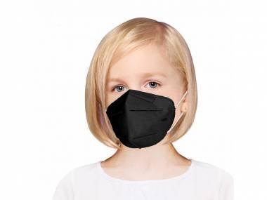 Dětský Respirátor FFP2 černý - 5 kusů