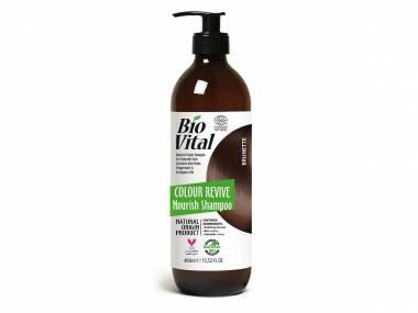 Šampon na hnědé vlasy Nourish BioVital DeBa 400 ml