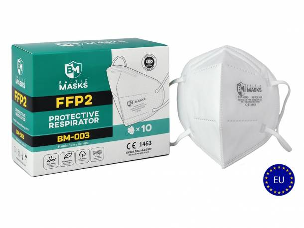 Baltic masks 5 vrstvý respirátor FFP2 - 1000ks